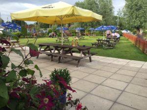 small beer garden